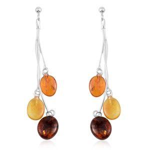 Jewelry - NEW Genuine Amber Sterling Silver Dangle Earrings